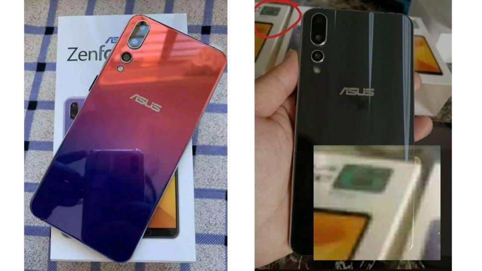 Lộ ảnh Zenfone 6 (2019) với 3 camera và mặt lưng gradient